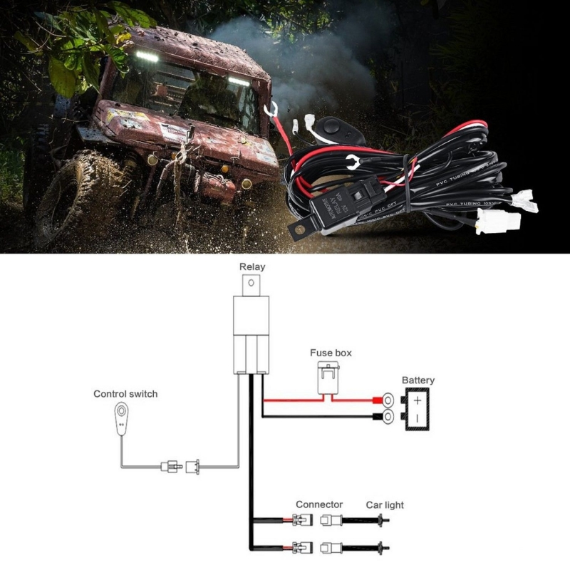 Venom Led Wire Harness Kit With Switch